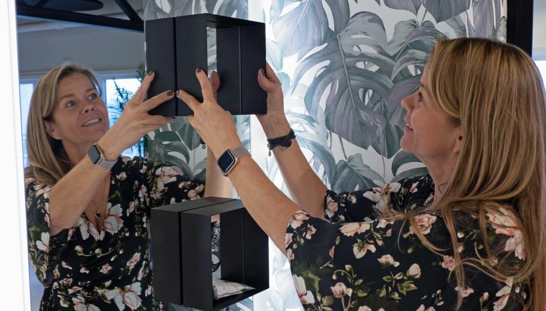 MAGNET: Magneter på speilene slik at du kan plassere bokser der du vil selv, det er en av de siste nye løsningene som Marianne Torp Halvorsen og Scala Bad har å by på.