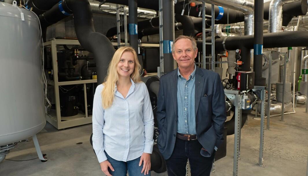 SAMMEN: AF Energi & Miljøteknikk har gått sammen med fire utbyggere om felles energiløsning på Billingstad i Asker. Marta Zlotkowska og Tor Olsen er fornøyde med resultatet.