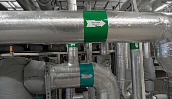 RETUR: Lav returtemperatur er utfordringen på det store anlegget med CO₂ som medium.