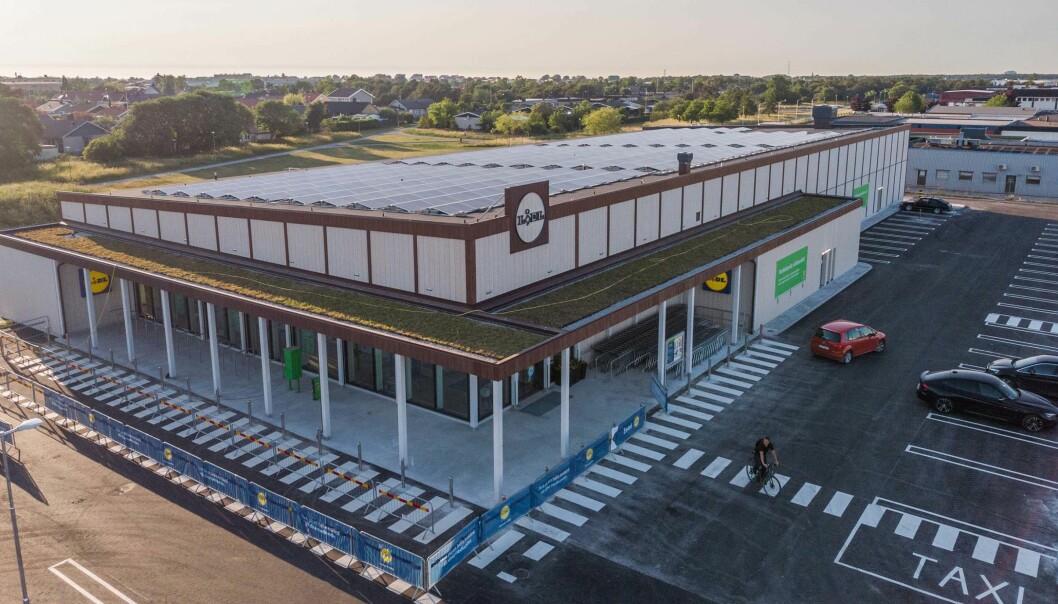 KLIMANØYTRAL: Slik ser verdens første NollCO₂-sertifiserte, klimanøytrale dagligvarebutikk ut.