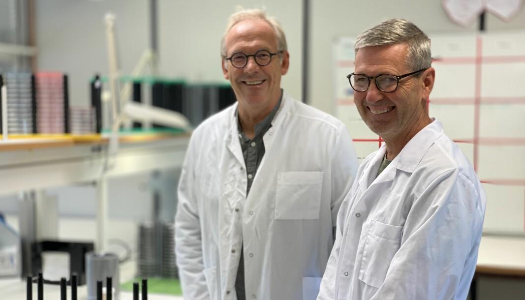 Eirik Ask og Bjørn Roheim fra Unilabs Miljømikrobiologi