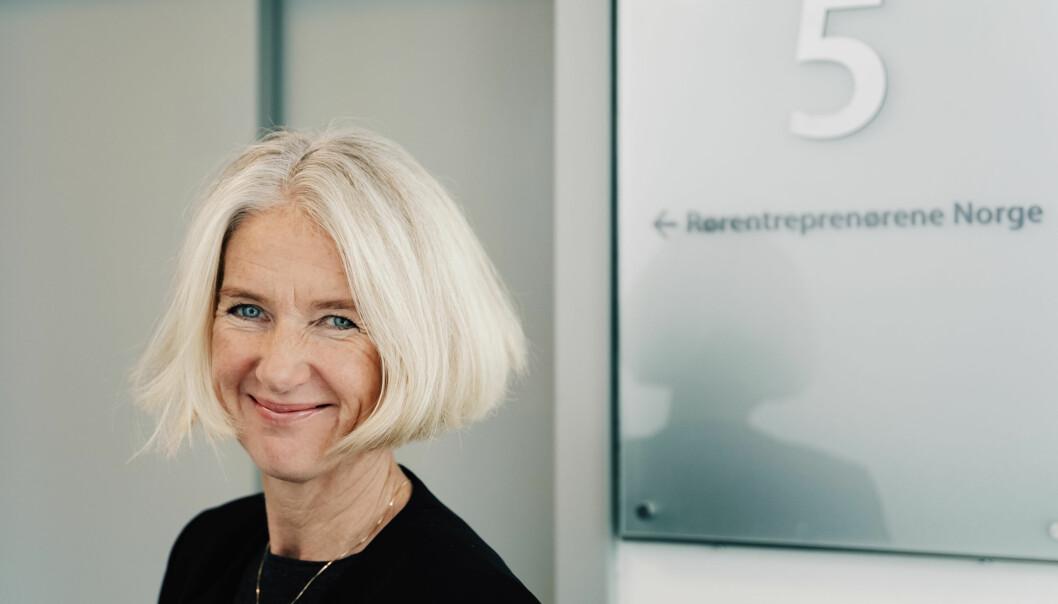 – Vi er glad i dag, sier Marianne W. Røiseland i Rørentreprenørene Norge.