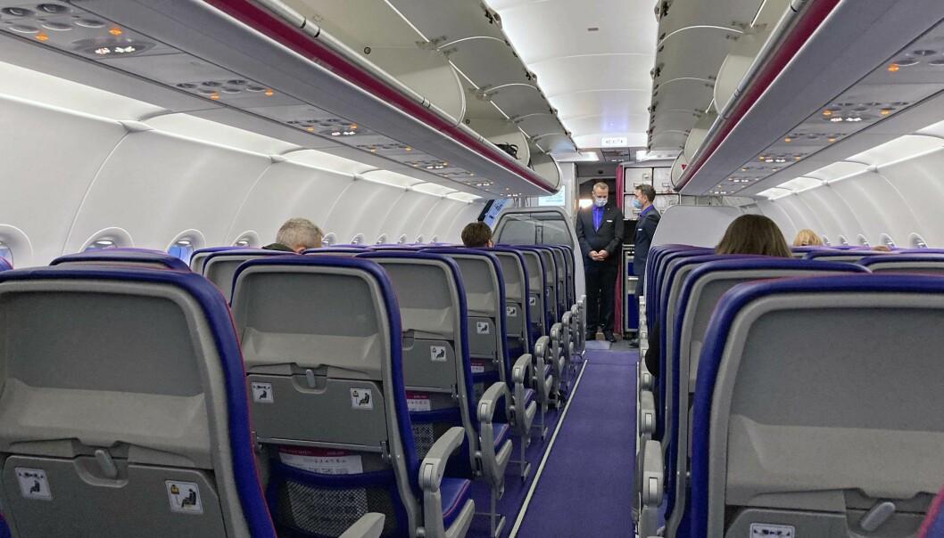 TRYGGERE: Ventilasjonen gjør flyene tryggere enn både supermarkedet og sykehuset, ifølge Wizz Air.