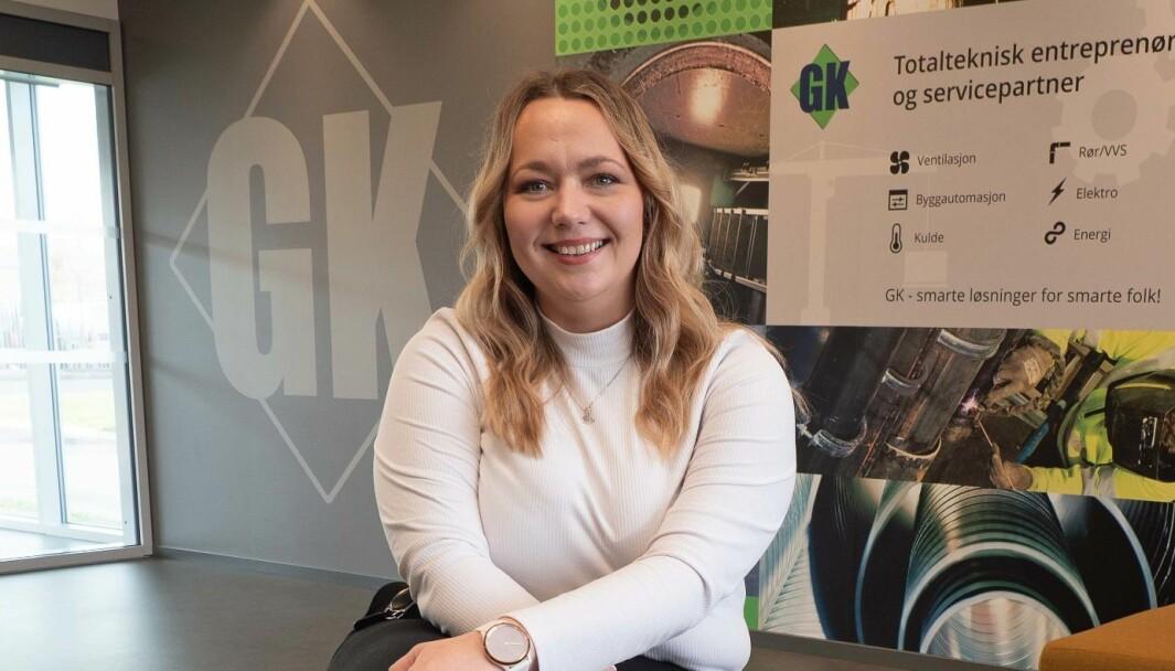 INNEKLIMAFRISØR: Marianne Seljelv-Valen begynner å få på plass faguttrykkene som fersk serviceleder hos GK Inneklima.