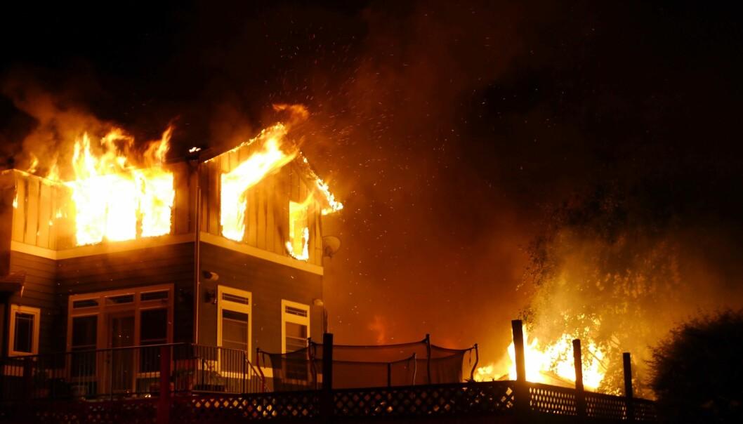BRANT NED: Da huset på Sørlandet brant ned, ville ikke forsikringsselskapet betale erstatningen som eieren krevde.