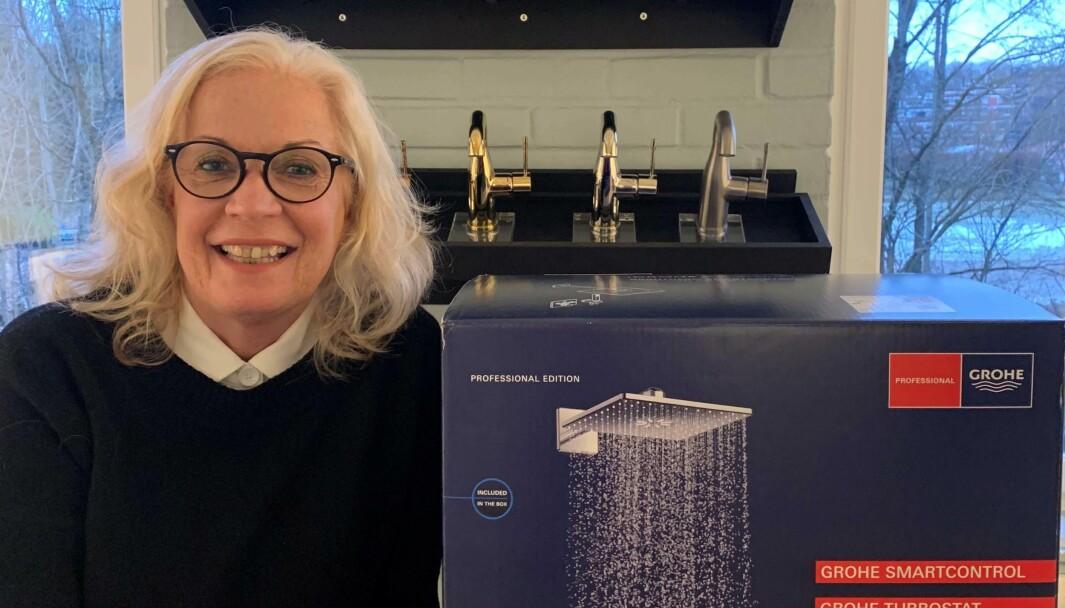 DELER OPP: De neste produktlanseringene kommer enten for profesjonelle eller i «quickfix»-markedet, forteller Grohe-sjef Anne Øiseth.