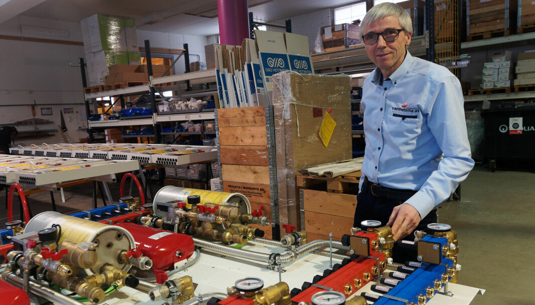 SKREDDERSØM: Jan Håvard Bratlie og Varmetema driver industriell skreddersøm av sentralene sine.