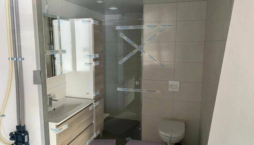 KONTROLL: Boligpartner bygger det første prosjektet sitt med prefabrikkerte bad, med gode erfaringer så langt.