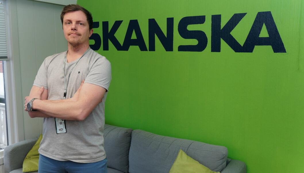 POWERHOUSEKUNNSKAP: Thomas André Johnsen og Skanska utnytter det de lærte av Powerhouse-prosjektet i Porsgrunn.