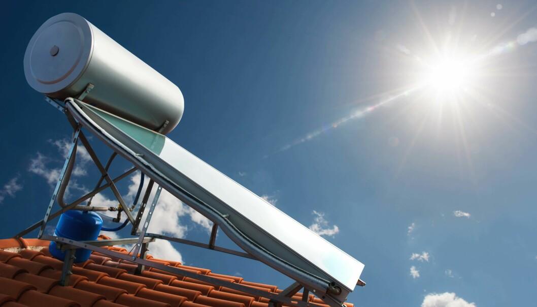 SOLVARME: Molekylet tar vare på varmen fra solfangere og lagrer den uten særlig energitap.