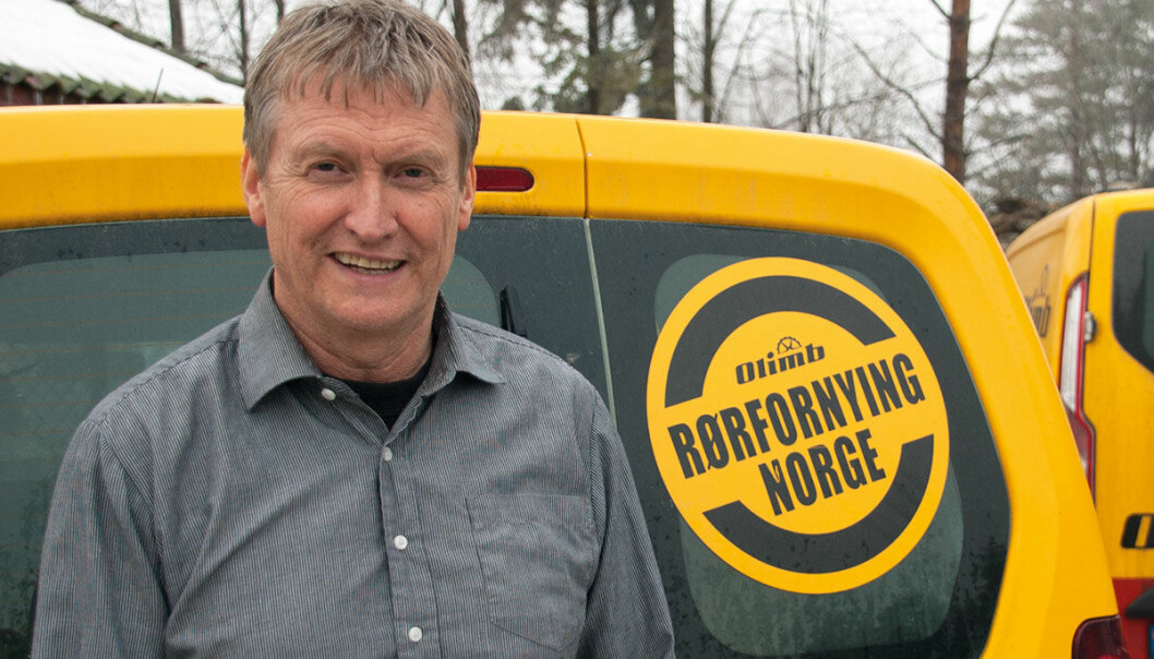 Roar Haugland, daglig leder Olimb Rørfornying AS.