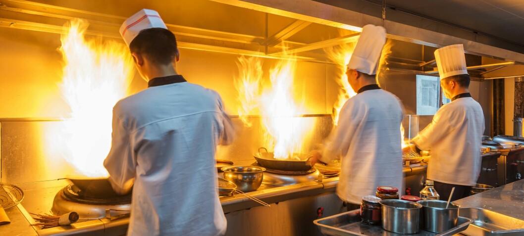 Kjøkkenventilasjonen er brannbomber