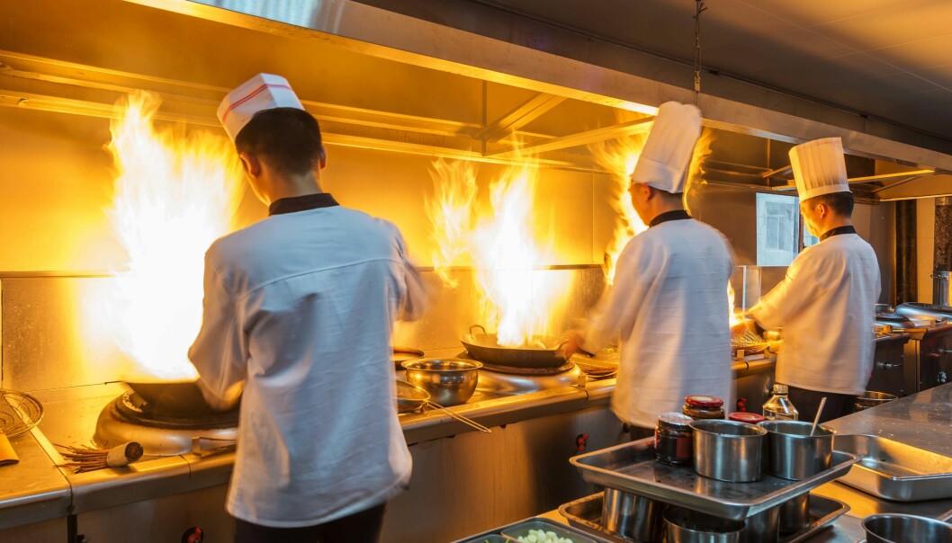 RISIKOSONER: Moderne kjøkken har forskjellige risikosoner, konstaterer ekspertene fra både Ventistål og Lindab. De vil ha regler som tar hensyn til virkeligheten.