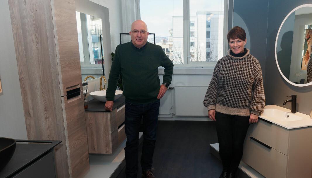 STILSIKRE: Berit Solberg Folden og Arne Korsbakken satser på et mindre inspirasjonsmagasin for å hjelpe forbrukerne med å velge stil i stedet for å måtte slite med å plukke enkeltprodukter.