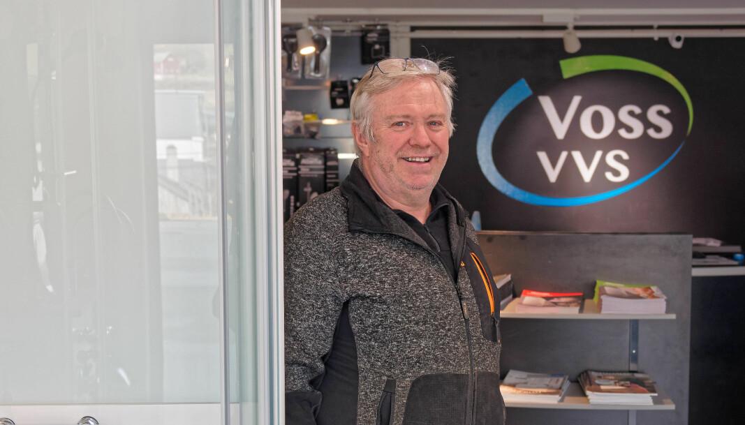 KORONAVEKST: Magne Emil Tvedt og Voss VVS klarte å øke omsetningen i fjor.