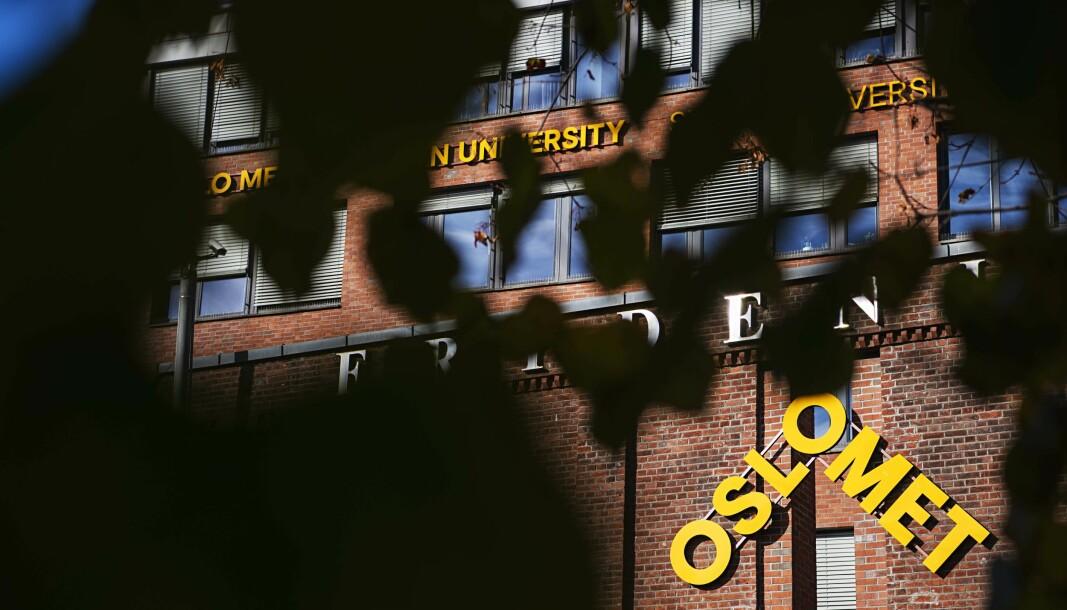 OSLOMET: Bilder fra campus avd. Pilestredet i høstfarger.