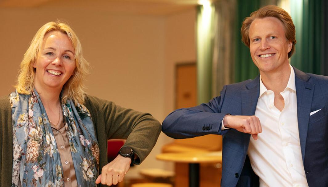 ENERGIFLEKSING: Administrerende direktør i Elvia, Kristin Lian og OSO-sjef Sigurd Bråthen går sammen i nytt FOU-prosjekt.