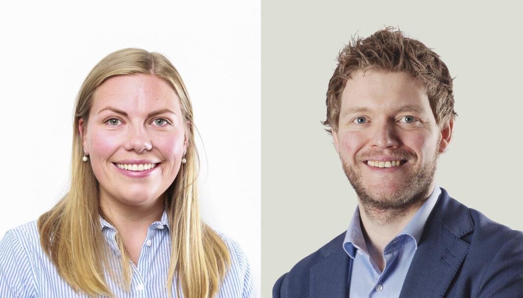 MUST-leder Karine Gjersø og Martin Halvorsen, leder for rekruttering i Multiconsult.