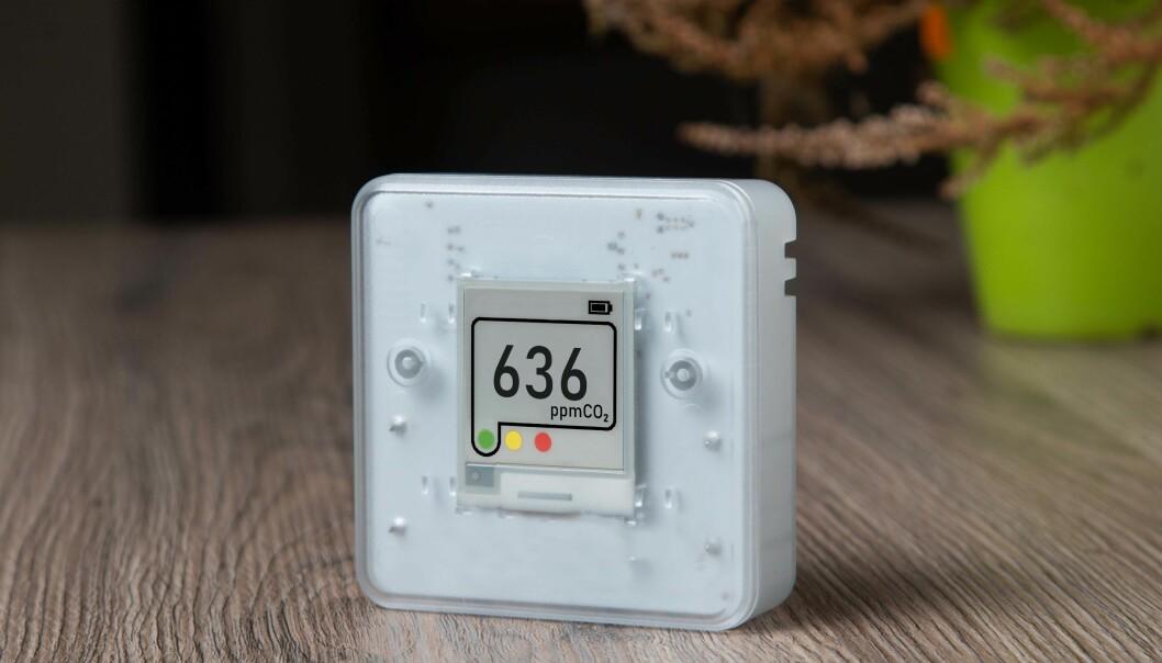 SYNLIG: Synlige CO₂-målere gjør det enklere å følge med på om rommet får nok luft slik at smittefaren blir mindre.
