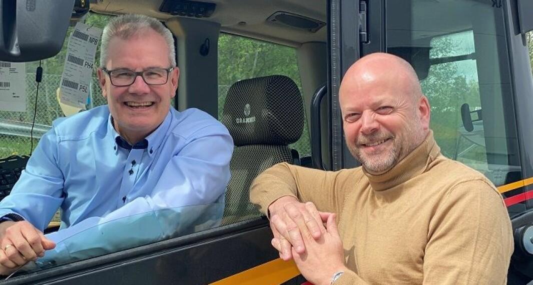 Adm direktør Bjørn Moen og markeds- og bærekraftsdirektør Kjetil Grønbakken.