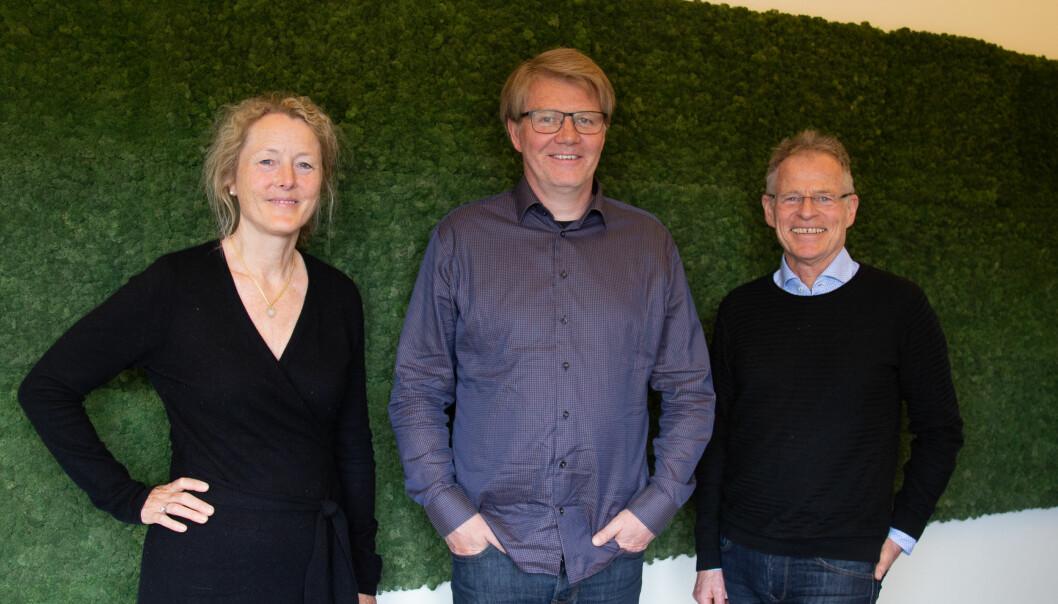 F.V: Divisjonsdirektør i Asplan Viak, Lise Haaland Eriksen, Regionleder nord Asplan Viak, Jon Vidar Jonsson og Daglig leder i Stein Hamre arkitektkontor, Stein Hamre.