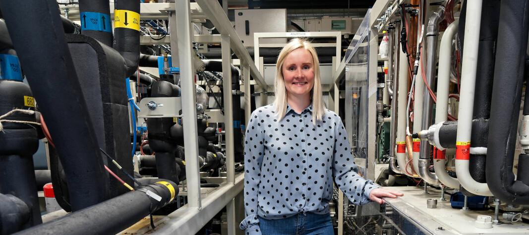 VARMEPUMPEFORSKER: Silje Marie Smitt forsker på løsninger som kan redusere energiforbruket i Europa med 30 prosent.