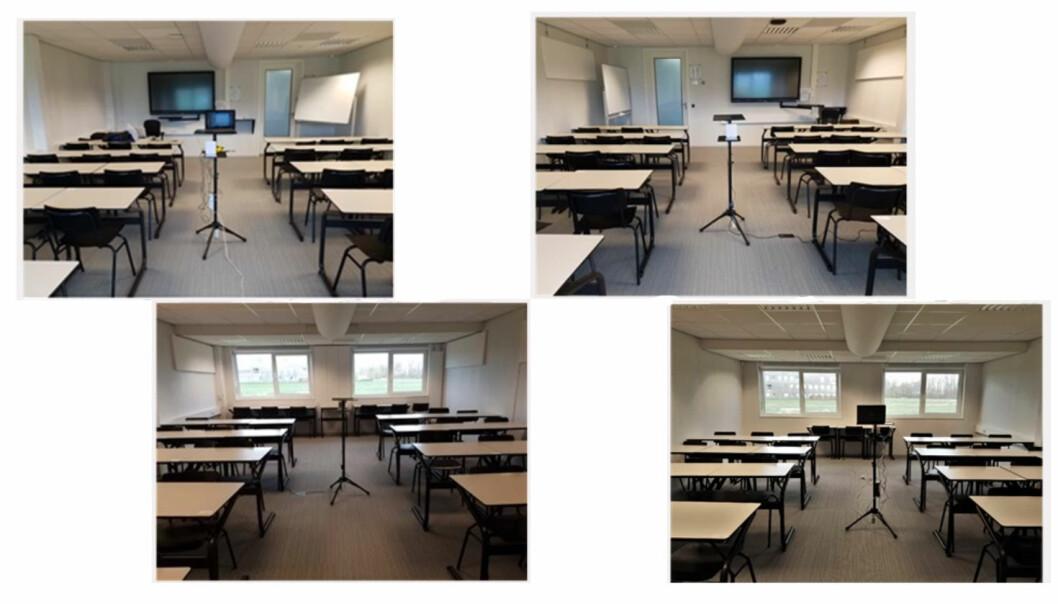 LIKE: Tester i to helt like klasserom viste hvordan dårlig inneklima til syvende og sist fører til dårlige resultater for studentene.