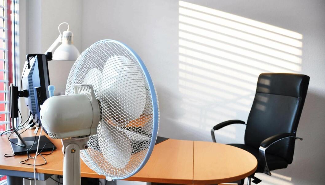 NY GENERASJON: Flere forskergrupper finner mer moderne måter å supplere oppvarming og kjøling på for å spare energi og sørge for høyere komfort. I den sammenhengen blir kjølevifter en gammeldags løsning.