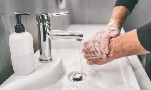 Håndvask gir bakterievekst
