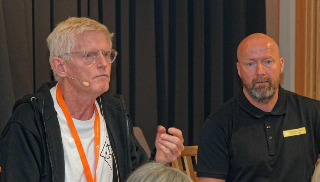 FORNØYDE: Fair Play- og Uropatrulje-lederne Leif Vagle (til venstre) og Vidar Sagmyr setter pris på alt som gjør det lettere å følge kravene til seriøsitet.