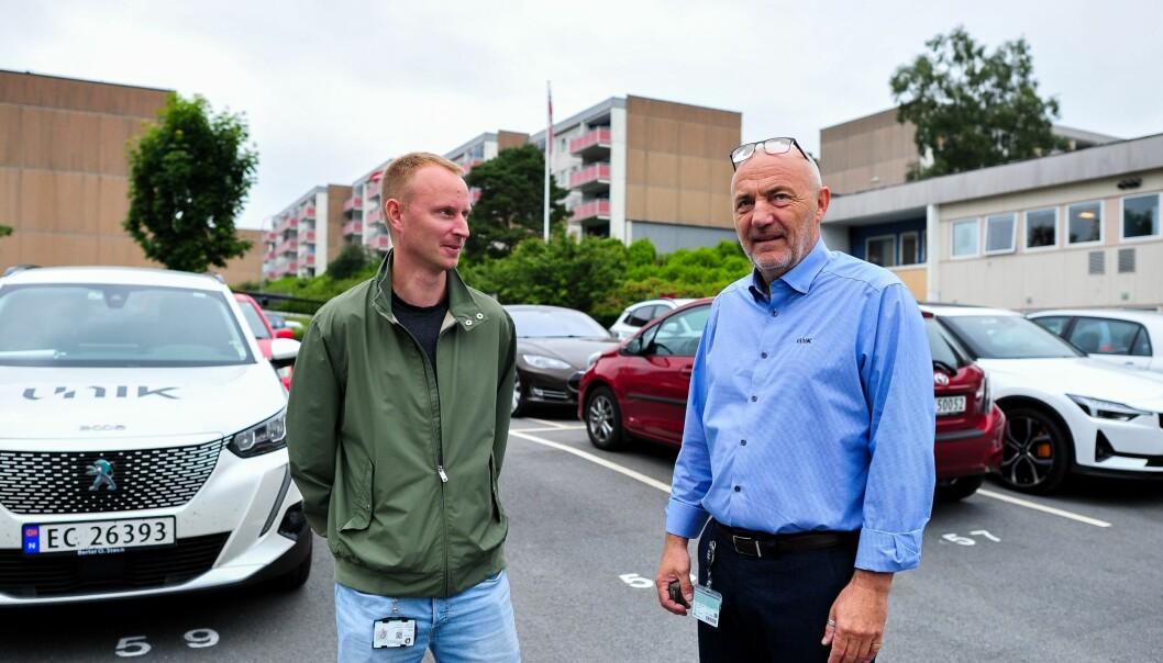 VEKST: Daglig leder i Unik VVS, Helge Olsen, ser for seg at det vil komme mange rehab-prosjekter fremover. Her er han sammen med leder for Unik VVS sin avdeling for borettslag, Christer Skjerping.