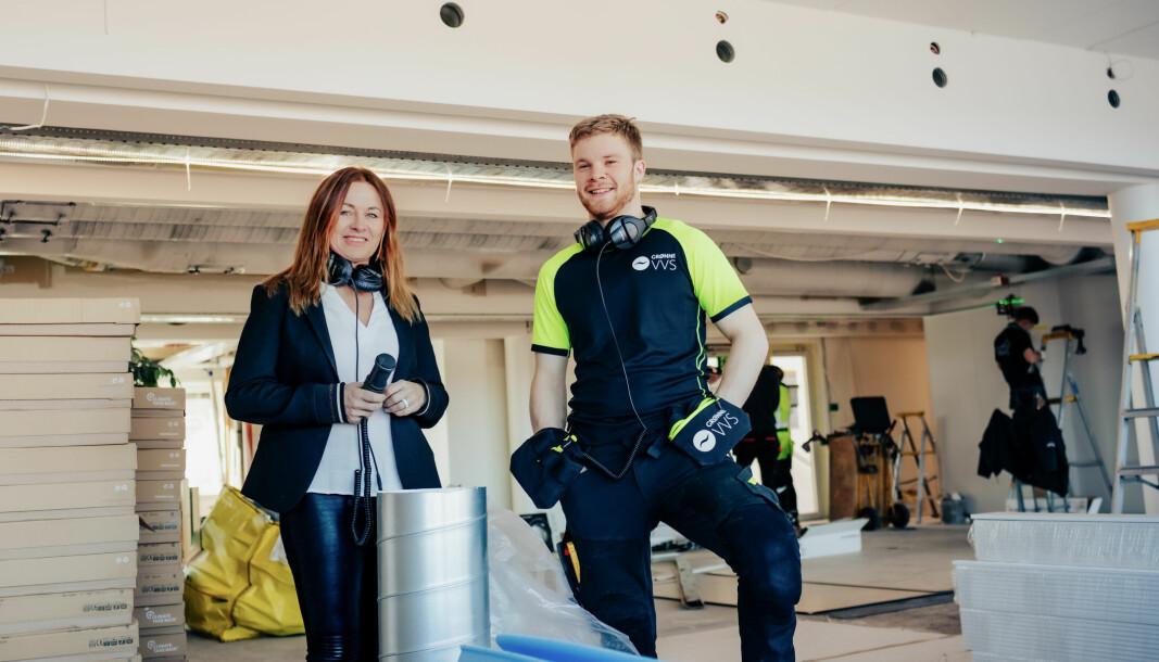 MYE RØR: Eli Hermine Heyerdahl Eide og Severin Poppe Midteide har lagt bak seg det første halvåret med «Bare Rør».