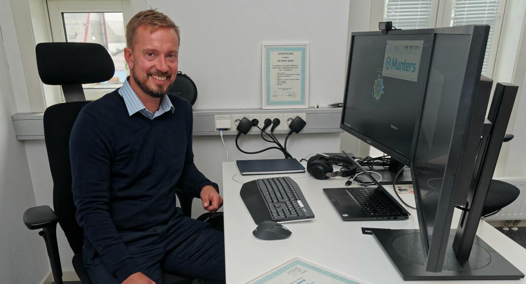 BYGGER OPP: Foreløpig er han alene, men Jahren er på jakt etter flere Munters-ansatte i Norge.