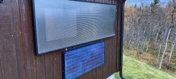 Tørker hytter med sol